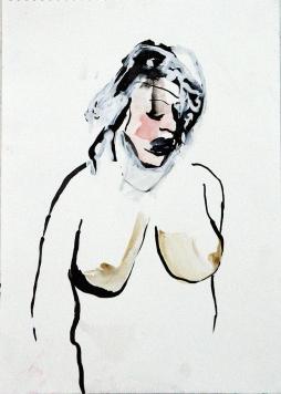 Sans Titre oi ink, gouache, softpastel, acryl on paper 42x30 cm 2015